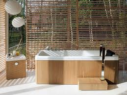 Bamboo Bathroom Accessories by Apartments Modern Outdoor Bathroom Design Ideas With White