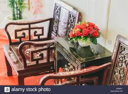 chinese style wood furniture home decoration stock photo royalty