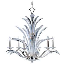 maxim lighting paradise 6 light plated silver chandelier 39945bcps