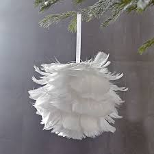 feather ornament west elm