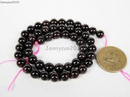 garnet gemstone bracelet images Natural dark red garnet gemstone round beads 16 39 39 2mm 3mm 4mm 6mm jpg