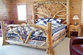 Cheap Log Bed Frames Warm And Inviting Rustic Log Beds The Owner Builder Network