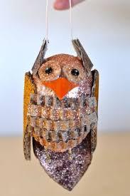 owl ornament ornament painted ornament ooak