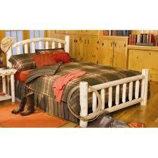 rustic natural cedar furniture log style beds panel bed walmart com