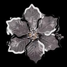silver flowers brooch 145 wf wedding hair flowers
