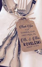 wedding silverware thank you for our meal silverware tags wedding