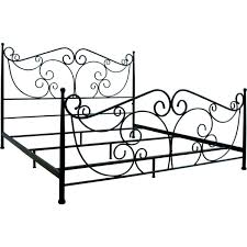 bello b538kdb scroll decorative metal bed frame in dark bronze