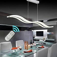 Kitchen Lighting Fixtures Ceiling Create For Modern Wave Led Pendant Light Dimmable Fixture