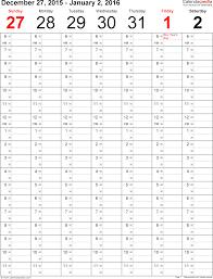 Weekly Year Calendar