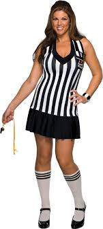 referee costume foul play referee plus size costume mr costumes