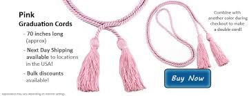 graduation cord pink graduation cords from honors graduation