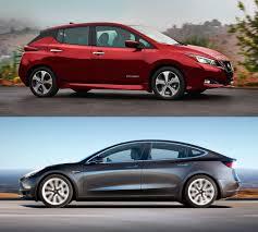 nissan leaf vs tesla model 3 nissan leaf 2018 или tesla model 3 u2014 cравнение электромобилей на