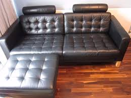 karlstad sofa and chaise lounge ikea karlstad black leather 3 seater sofa with footstool and