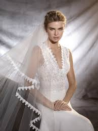 wedding dress in orobia wedding dress in gauze guipure and tulle