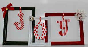 life with 4 boys diy picture frame christmas decorations