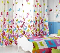rideaux chambres enfants rideau chambre enfant beaux papillons sur fond blanc resized