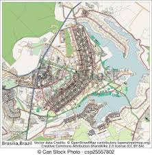 city map of brazil brasilia brazil city map aerial view vector clipart search
