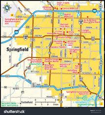 springfield map springfield missouri area map stock vector 144150106