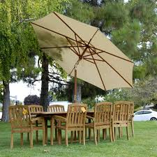 Patio Dining Sets With Umbrella 9pc Grade A Teak Outdoor Patio Dining Set