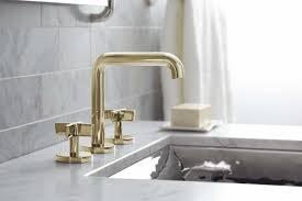 bathroom simple unlacquered brass bathroom faucet home decor
