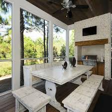 White Washed Kitchen Table by Whitewashed Wood Dining Table Design Ideas