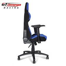 Office Chair Covers Amazon Amazon Com Gt Omega Pro Racing Office Chair Blue And Black Fabric