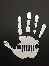 jeep wave sticker mirror amazon com jeep wave hand vinyl sticker decal automotive