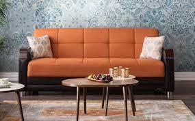 Orange Sofa Living Room by Luna Zigana Orange Convertible Sofa Bed By Sunset
