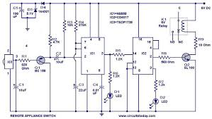 remote controlled appliance switch circuit electronic circuits