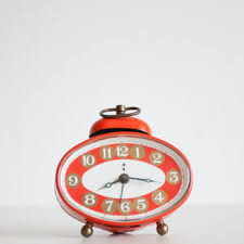 Small Desk Clock Small Alarm Clock Blessing Werke German From Thethingsthatwere