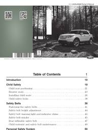 2014 explorer owners manual ava avto ru pdf seat belt airbag