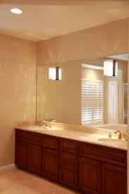 large frameless bathroom mirror gallery with picture how to hang