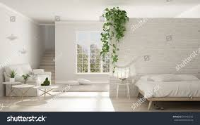 Classic Interior Design Scandinavian White Minimalist Living Bedroom Open Stock