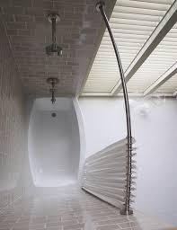 Bathroom Shower Curtain Rod Trending Now In Bathroom Decor Spacious Curved Shower Curtain
