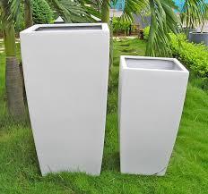 planter white set of 2 small