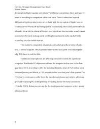dell strategic management final paper