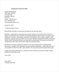 Reference Page For Resume Sample by Reference Letter Employment Template