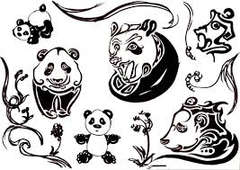 cute cartoon panda tattoo designs real photo pictures images
