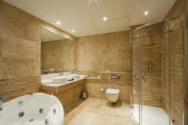 ultimate bathrooms with travertine tile pictures about home