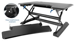 desk v000zb black height adjustable 36