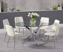 Oval Glass Dining Table Denver 165cm Oval Glass Dining Table With Helsinki Faux Leather Chairs
