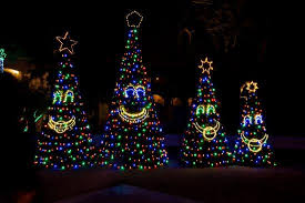 singing christmas trees light display at christmas at the princess