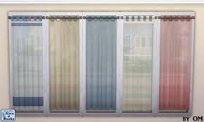 Tab Top Sheer Curtain Panels Sheer Tab Top Curtain Sims 4 Studio