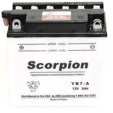 yb7 a battery scorpion 12 volt motorcycle batteries