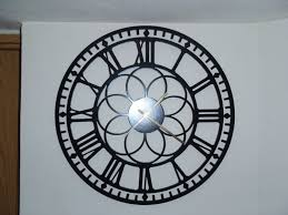 Home Decor Wall Clocks 20 Clock Roman Numbers Metal Wall Art Black Metal