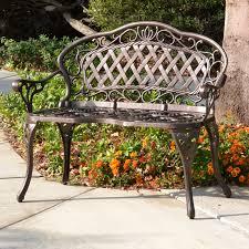 innova regis promo loveseat cast iron cast aluminum outdoor bench