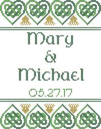 celtic cross stitch pattern celtic wedding cross stitch