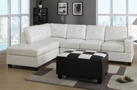 White Tufted Leather Sofa by Furniture Astonishing White Leather Sectional Sofa With Sleeper