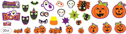 Halloween Cut Outs Halloween Wall U0026 Window Decorations U2013 Cutouts Spooky Gel Clings