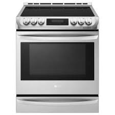 Slide In Cooktop Lg 6 3 Cu Ft Electric Slide In Range With Warming Drawer And